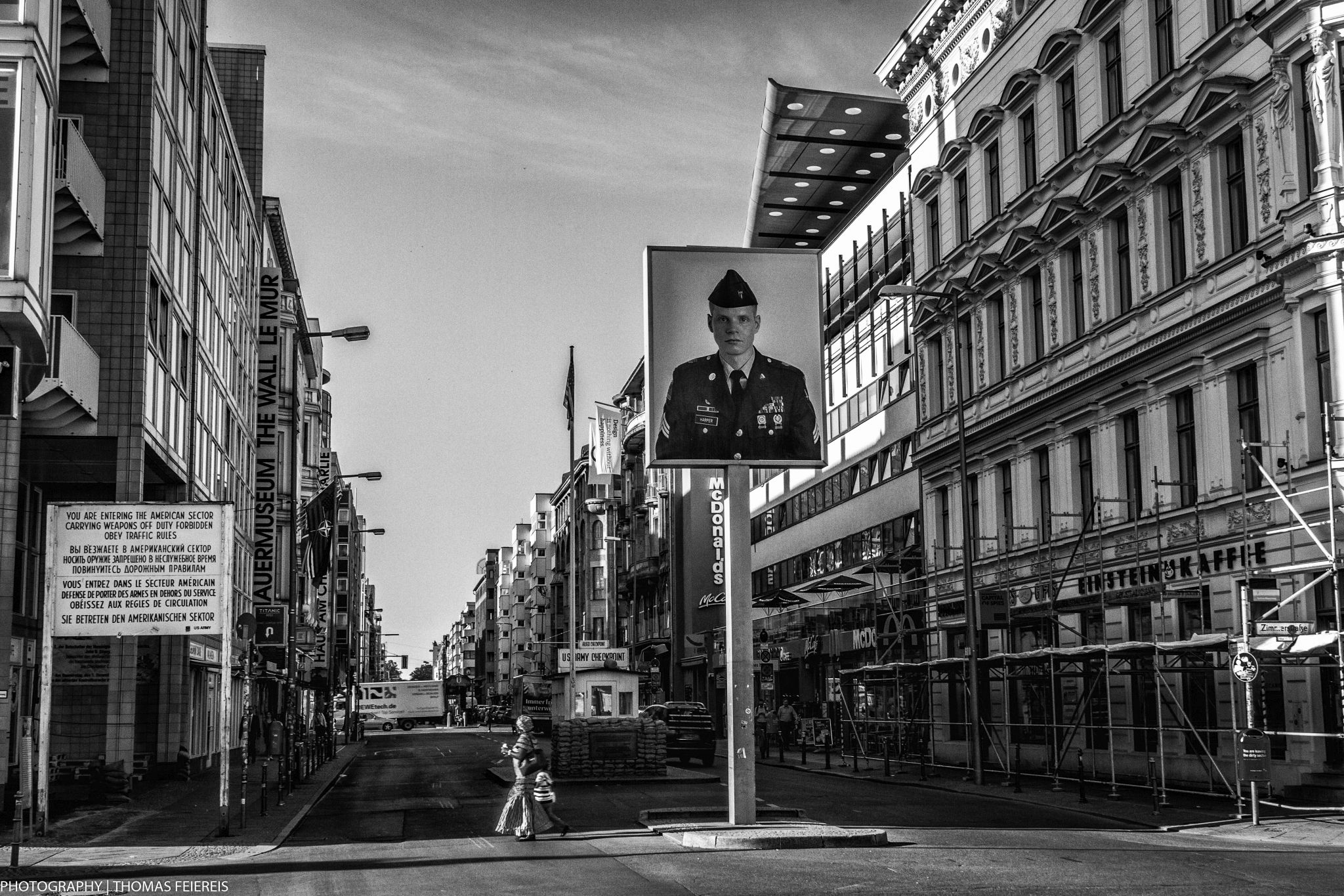 morning berlin checkpoint charlie